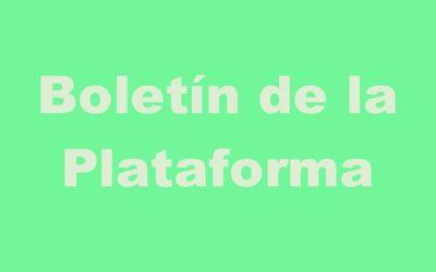 Boletín de la Plataforma