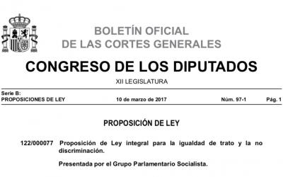 Proposición de Ley integral para la igualdad de trato y la no discriminación